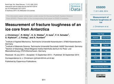Measurement of Fracture Toughness of an ... by Christmann, J.