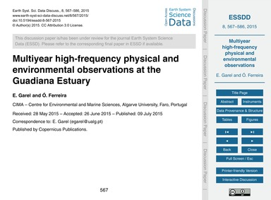 Multiyear High-frequency Physical and En... by Garel, E.