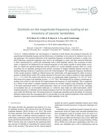 Controls on the Magnitude-frequency Scal... by Hurst, M. D.