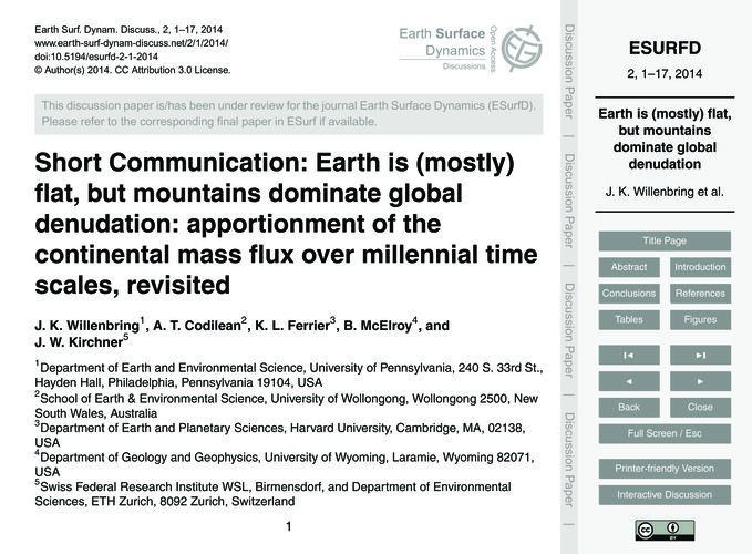 Short Communication: Earth is (Mostly) F... by Willenbring, J. K.