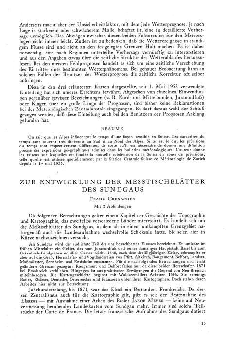 Zur Entwicklung Der Messtischblätter Des... by Grenacher, F.