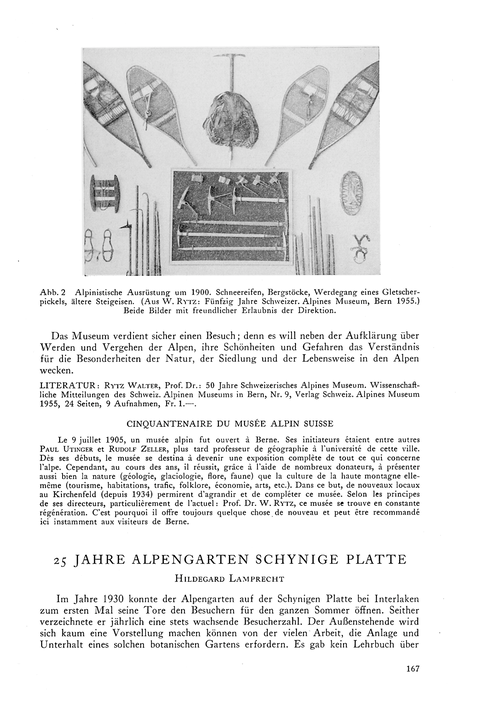 25 Jahre Alpengarten Schynige Platte : V... by Lamprecht, H.