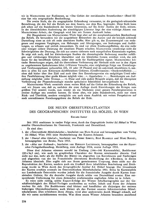 Die Neuen Oberstufenatlanten Des Geograp... by Imhof, E.