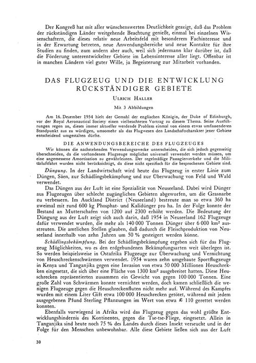 Das Flugzeug Und Die Entwicklung Rückstä... by Haller, U.