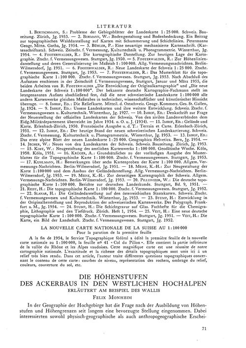 Die Höhenstufen Des Ackerbaus in Den Wes... by Monheim, F.