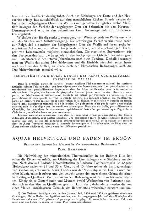 Aquae Helveticae Und Baden Im Ergöw : Vo... by Haberbosch, P.