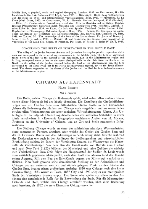 Chicago Als Hafenstadt : Volume 11, Issu... by Boesch, H.