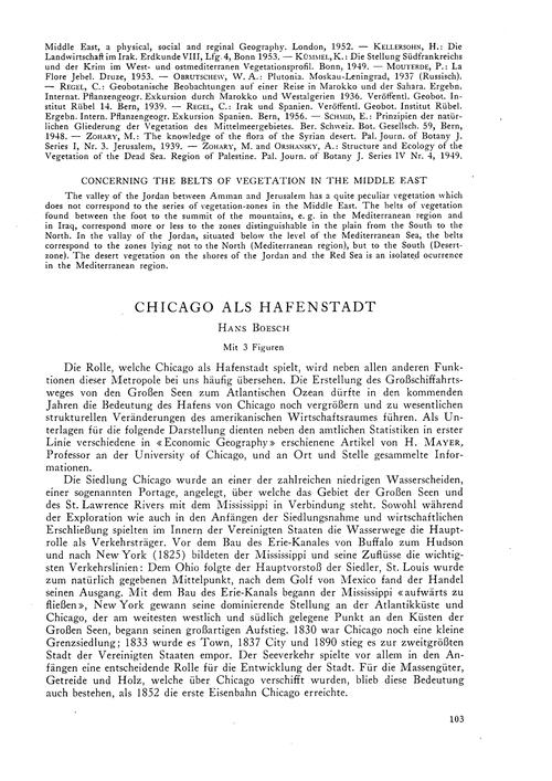 Chicago Als Hafenstadt : Volume 11, Issu... by Boesch, H.
