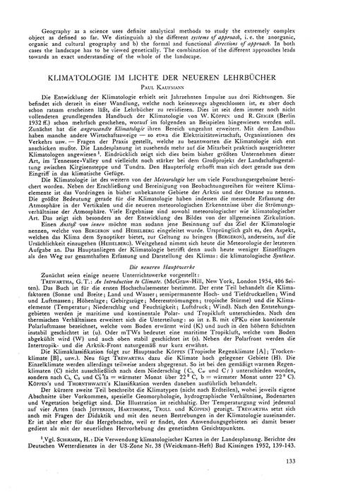 Klimatologie Im Lichte Der Neueren Lehrb... by Kaufmann, P.