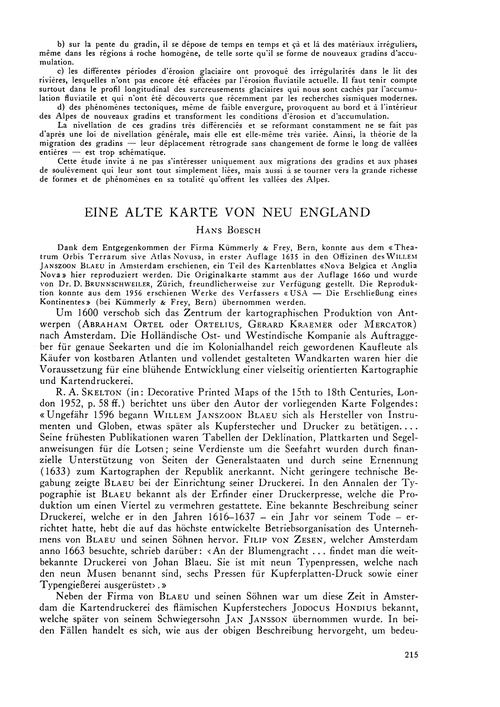 Eine Alte Karte Von Neu England : Volume... by Boesch, H.