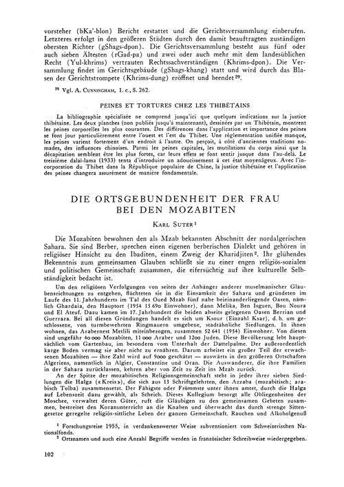 Die Ortsgebundenheit Der Frau Bei Den Mo... by Suter, K.