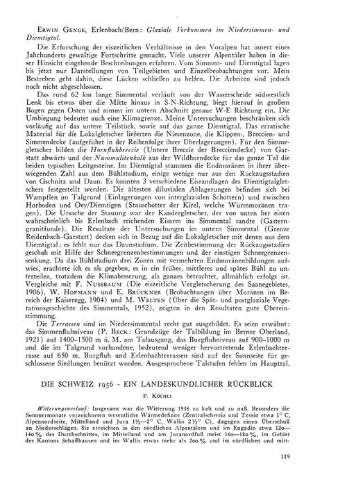 Die Schweiz 1956 - Ein Landeskundlicher ... by Köchli, P.