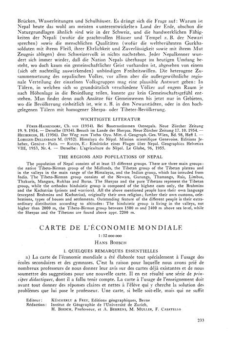 Carte De L'Économie Mondiale 1 : 32 000 ... by Boesch, H.