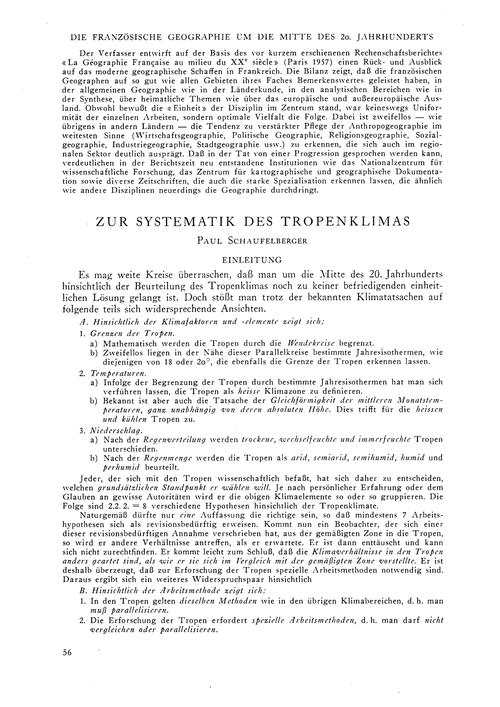 Zur Systematik Des Tropenklimas : Volume... by Schaufelberger, P.