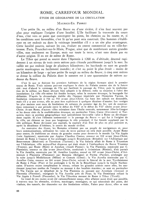 Rome, Carrefour Mondial : Étude De Géogr... by Perret, M.-ed.