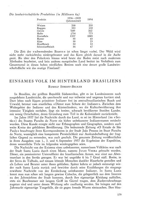 Einsames Volk Im Hinterland Brasiliens :... by Streiff-becker, R.