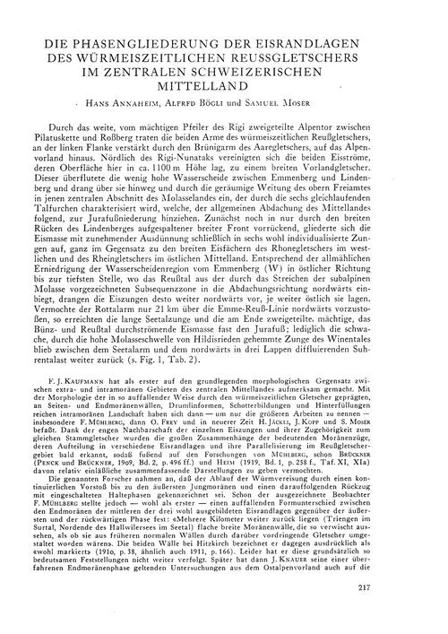 Die Phasengliederung Der Eisrandlagen De... by Annaheim, H.
