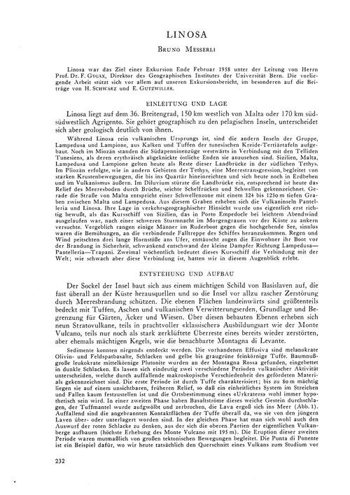 Linosa : Volume 13, Issue 1 (30/11/-0001... by Messerli, B.