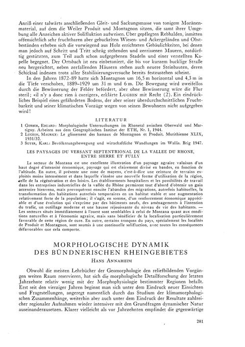 Morphologische Dynamik Des Bündnerischen... by Annaheim, H.