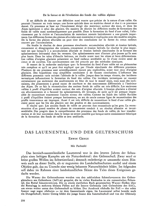 Das Lauenental Und Der Geltenschuss : Vo... by Genge, E.