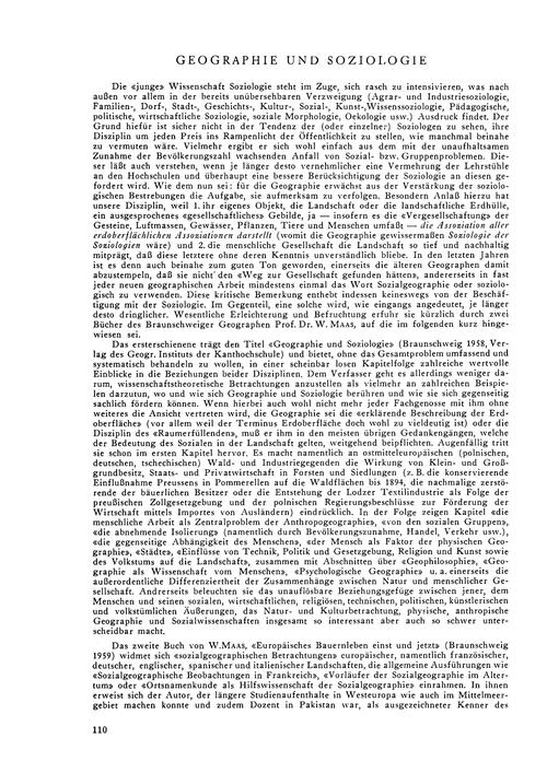 Geographie Und Soziologie : Volume 15, I... by E.W.