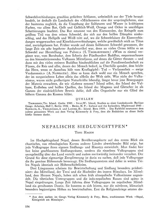 Nepalische Siedlungstypen : Volume 15, I... by Hagen, T.