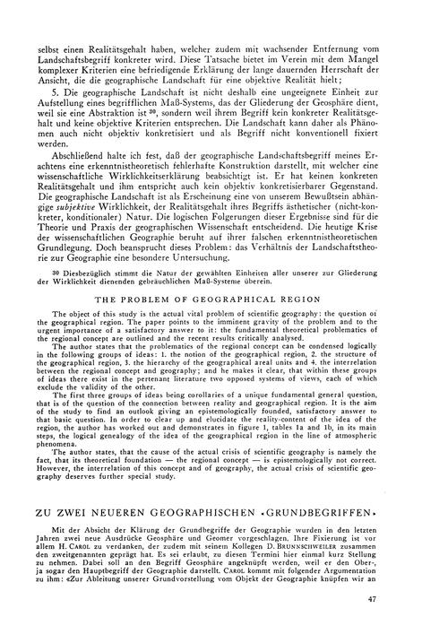 Zu Zwei Neueren Geographischen Grundbegr... by Winkler, E.