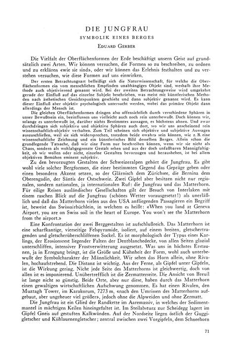 Die Jungfrau : Symbolik Eines Berges : V... by Gerber, E.