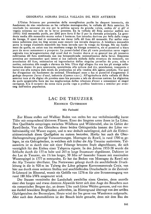 Lac De Tseuzier : Volume 16, Issue 3 (30... by Gutersohn, H.