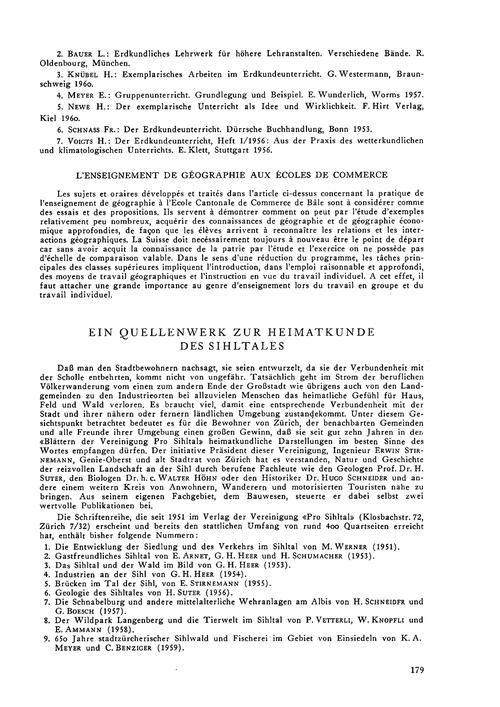 Ein Quellenwerk Zur Heimatkunde Des Sihl... by