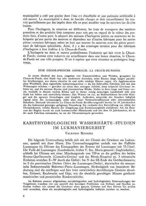 Karsthydrologische Wasserhärte-studien I... by Binggeli, V.