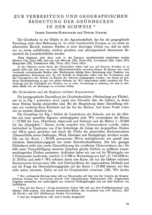 Zur Verbreitung Und Geographischen Bedeu... by Steiner-haremaker, I.