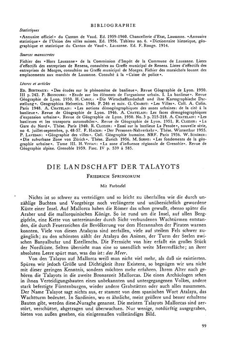 Die Landschaft Der Talayots : Volume 16,... by Springorum, F.