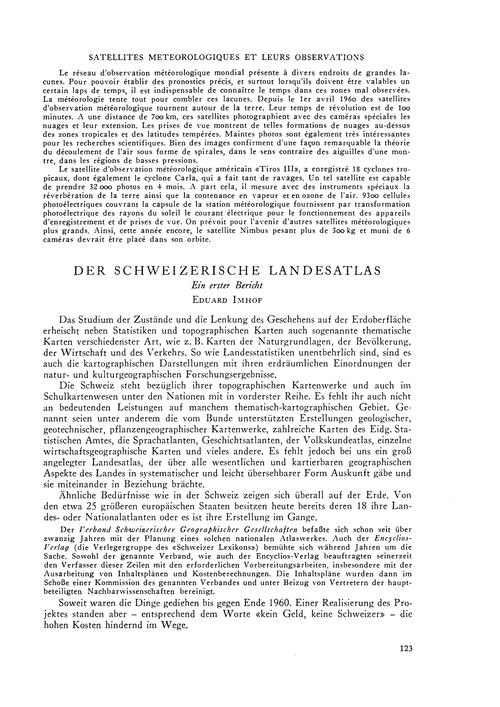 Der Schweizerische Landesatlas : Ein Ers... by Imhof, E.