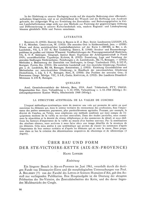 Über Bau Und Form Der Ste-victoire-kette... by Liniger, H.