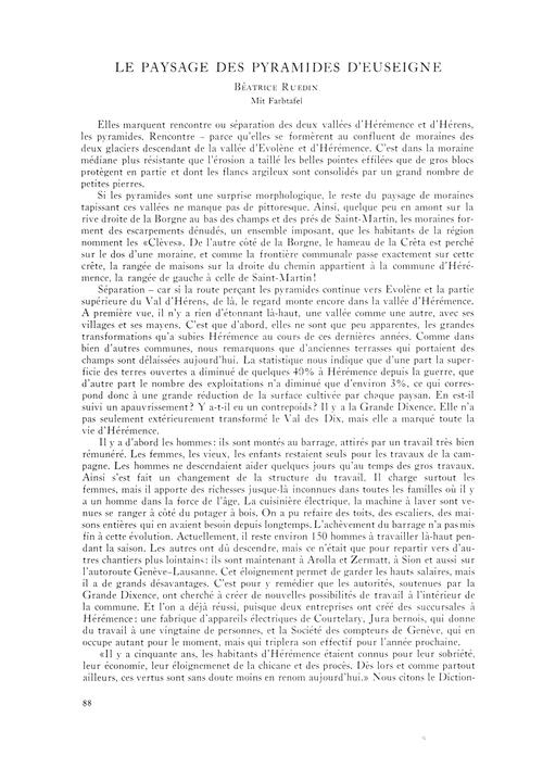 Le Paysage Des Pyramides D'Euseigne : Vo... by Ruedin, B.
