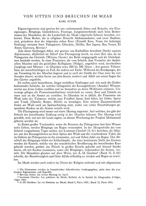 Von Sitten Und Bräuchen Im Mzab : Volume... by Suter, K.