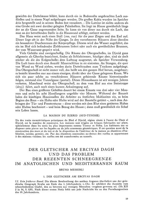 Der Gletscher Am Erciyas Dagh Und Das Pr... by Messerli, B.