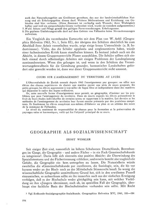 Geographie Als Sozialwissenschaft : Volu... by Winkler, E.