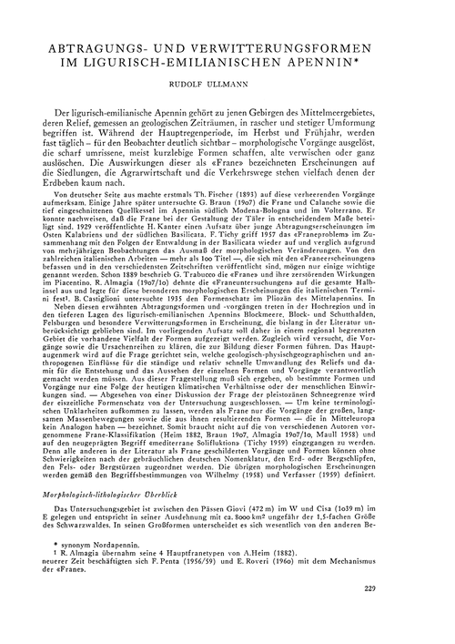 Abtragungs- Und Verwitterungsformen Im L... by Ullmann, R.