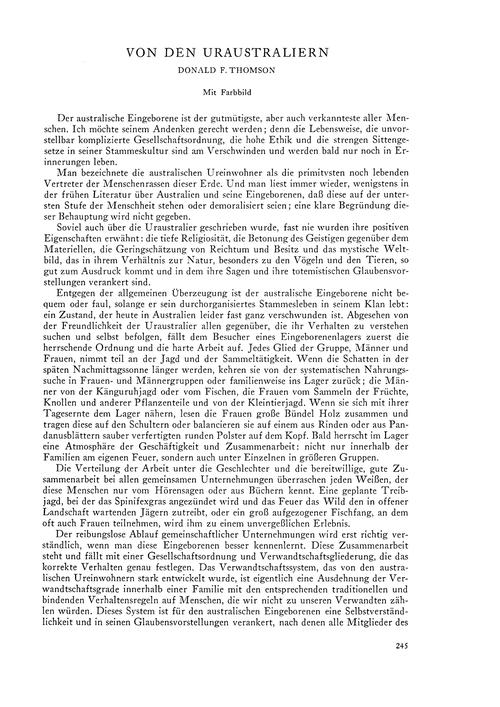 Von Den Uraustraliern : Volume 19, Issue... by Thomson, D. F.