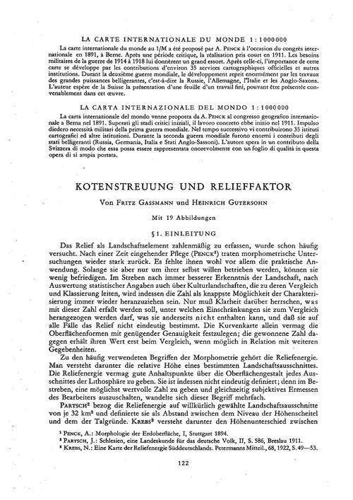 Kotenstreuung Und Relieffaktor : Volume ... by Gassmann, F.
