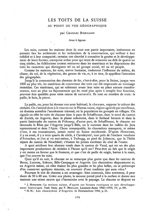 Les Toits De La Suisse Au Point De Vue G... by Biermann, C.