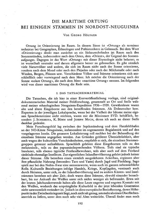 Die Maritime Ortung Bei Einigen Stämmen ... by Höltker, G.