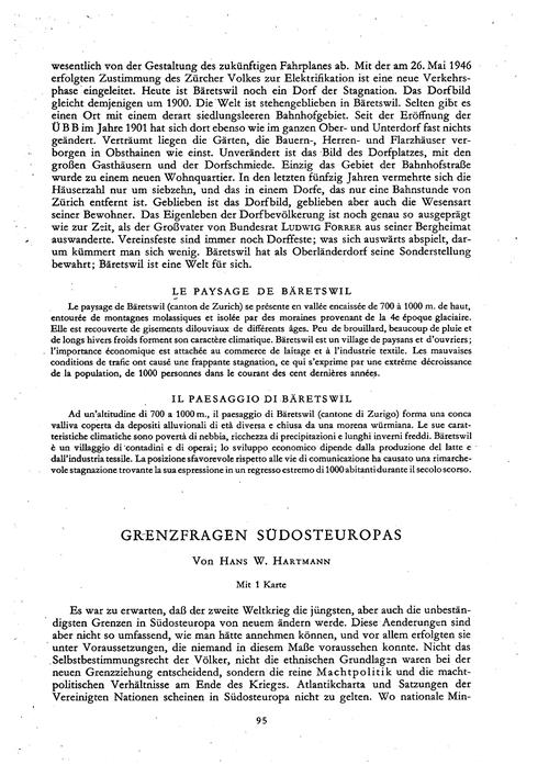 Grenzfragen Südosteuropas : Volume 2, Is... by Hartmann, H. W.