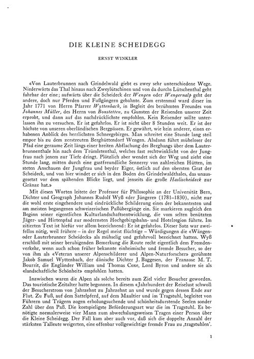 Die Kleine Scheidegg : Volume 20, Issue ... by Winkler, E.