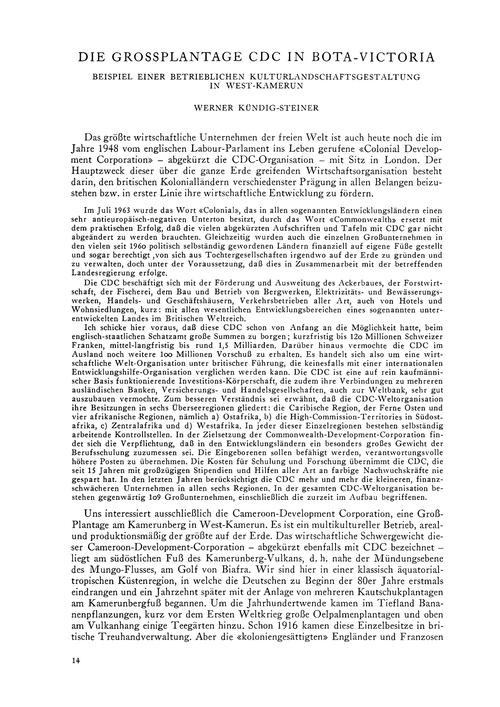 Die Grossplantage Cdc in Bota-victoria :... by Kündig-steiner, W.
