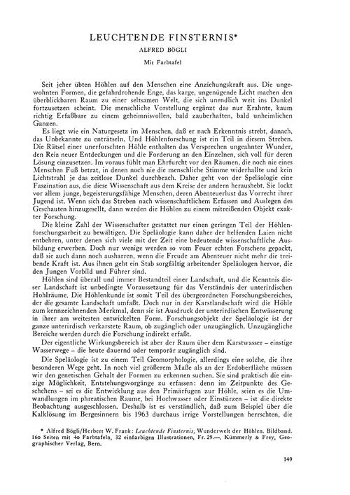 Leuchtende Finsternis : Volume 20, Issue... by Bögli, A.