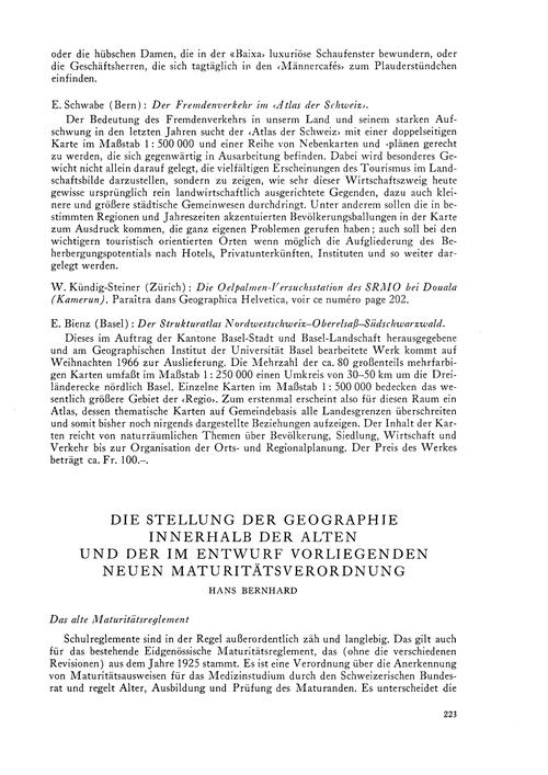 Die Stellung Der Geographie Innerhalb De... by Bernhard, H.