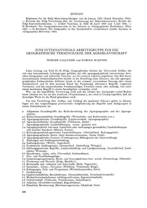 Eine Internationale Arbeitsgruppe Für Di... by Gallusser, W.